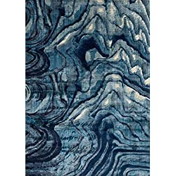 "Loloi Rugs DREMDM-13INBB3B59 Dreamscape Collection Contemporary Area Rug, 3'-11"" x 5'-9"", Indigo/Blue"