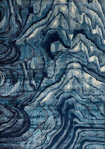 "Loloi Rugs DREMDM-13INBB3B59 Dreamscape Collection Contemporary Area Rug, 3'-11"" x 5'-9"", Indigo/Blue"