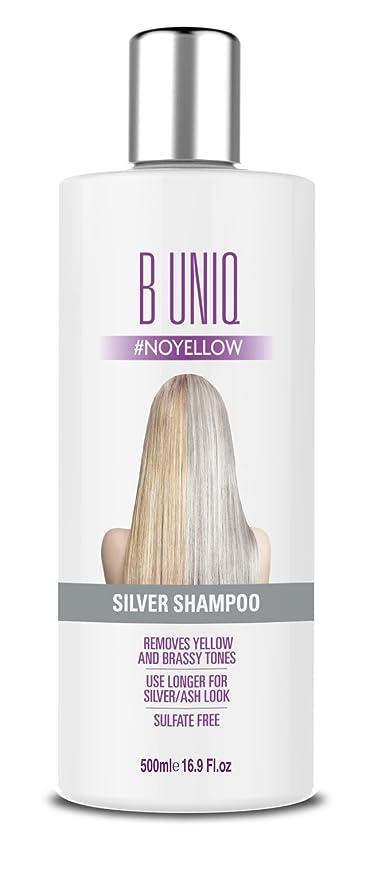 B Uniq - Silver Shampoo per toni violacei - shampoo antigiallo -  rivitalizza i capelli biondi c89939a08298