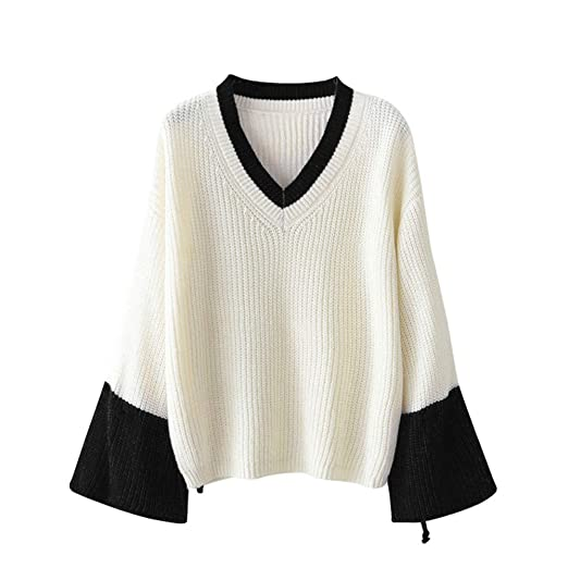 c33827b9 Alimao Womens Fashion Casual Knitted Pullover Sweater Long Sleevel Tops  Blouse Sweat Black