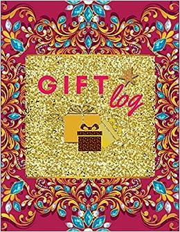 amazon gift log vintage luxury pink cover gift log book wedding
