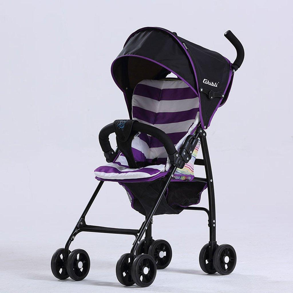 子供の傘ベビーカー軽量折りたたみポータブル超軽量ベビーカー、グリーン/パープル/レッド、58 * 45 * 96センチメートル ( Color : Purple ) B07BWCYBLS