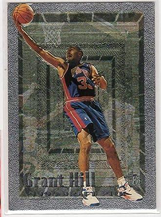 2015-16 Panini Prizm Red White & Blue #295 Grant Hill Detroit Pistons Card Verzamelingen Verzamelkaarten, ruilkaarten