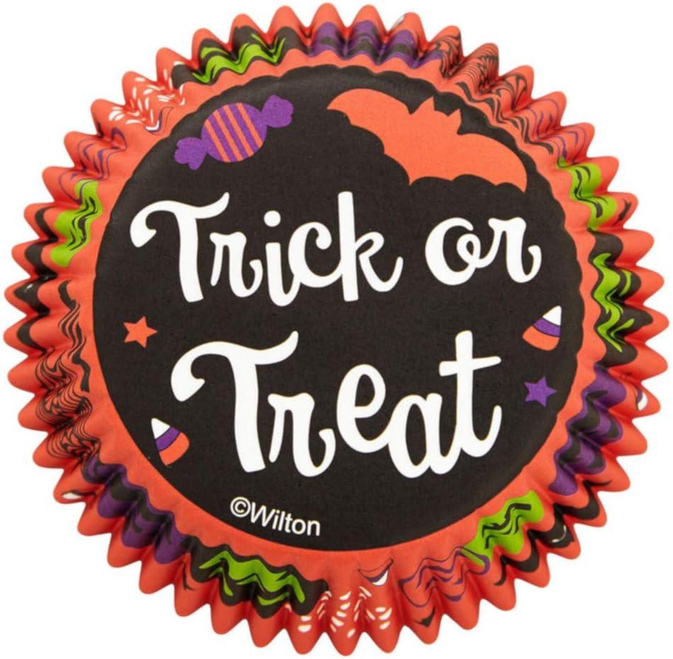 Non-Food Items Standard Baking Cups Trick TRT, us:one Size, Orange, Black, Green,Purple