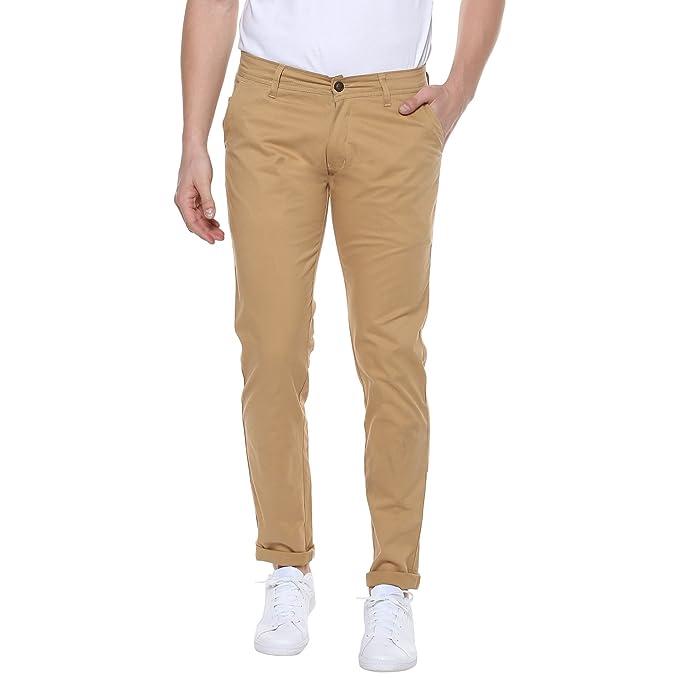Urbano Fashion Men S Cotton Slim Fit Stretchable Casual Chinos