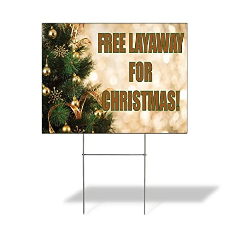 free layaway for christmas outdoor lawn decoration corrugated plastic yard sign 12inx18in free - Yard Plastic Christmas Decorations Outdoors