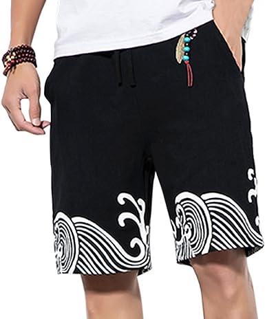 Zhuhaitf Verano Casual Pantalones Cortos-Hombre Mujer Transpirable ...