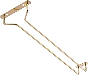 "Update International 16"" Brass-Plated Glass Hanger"