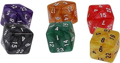 Hellery Juego De 6 Juegos De Dados para Mazmorras Y Dragones Juego De Roles Juego De Varios Lados - Perla24: Amazon.es: Juguetes y juegos