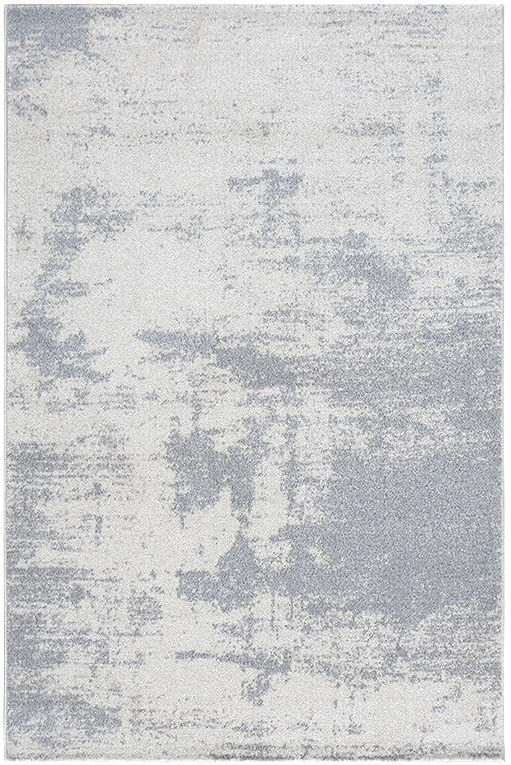 CARPET Rugs - Alfombra de Polipropileno Simple Abstracta Gris Azul ...