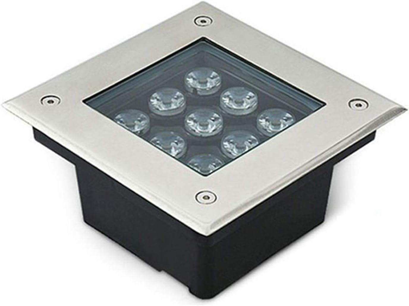 AMDHZ Foco Empotrable de Suelo LED Foco Empotrable De Suelo LED Cuadrado IP67 AC220V Luz Alta Rectángulo Incrustado Focos Parque Jardín (Color : B, Size : 16W)