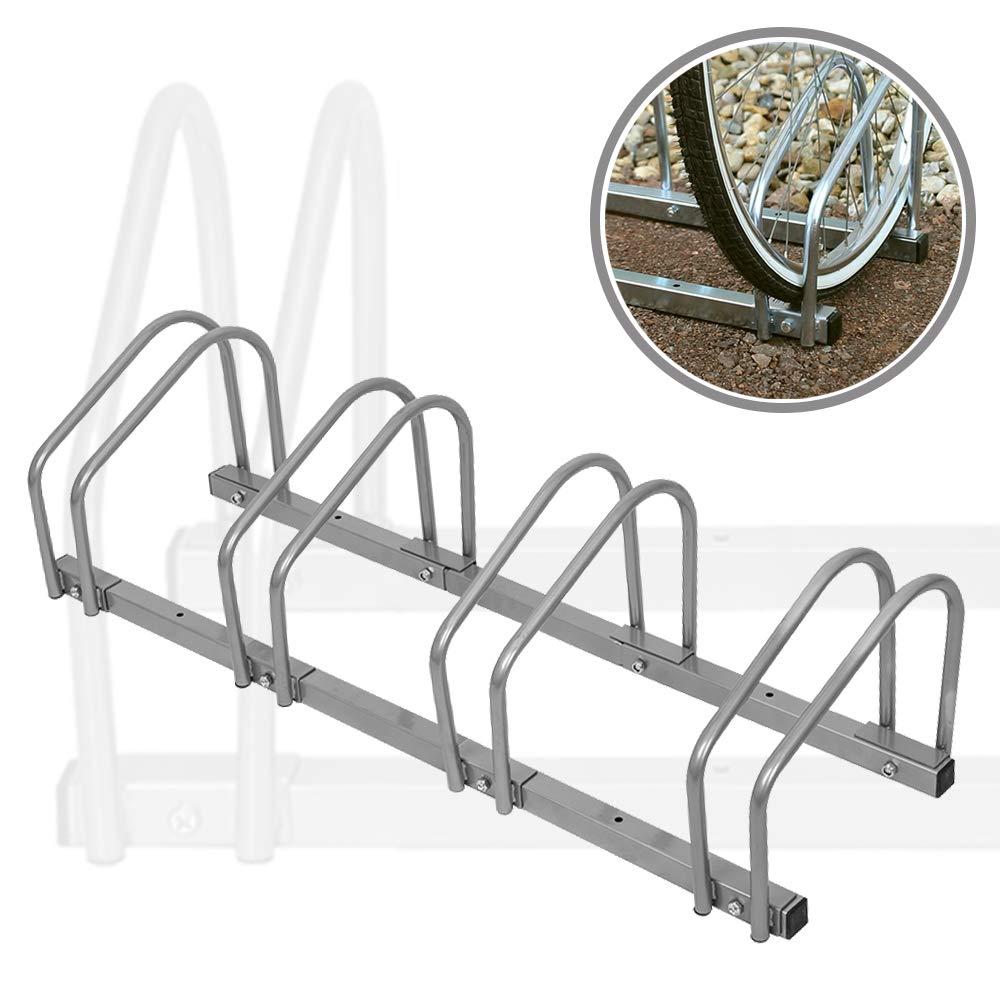 AUFUN Fahrradst/änder Aufstellst/änder Fahrrad St/änder Boden Wand Montage Metall Platzsparend F/ür 2 Fahrr/äder