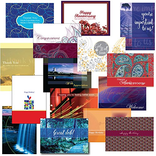 Employee Birthday Cards (Employee Appreciation Greeting Card Assortment. This 30-Card Box Set Encourages Loyalty and Teamwork. Includes Birthday, Get Well, Anniversary, Congratulations and General Inspiration.)