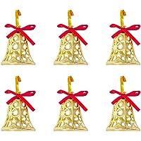 Kikajoy Yılbaşı Çam Ağacı Süsleme Çanı 6'lı