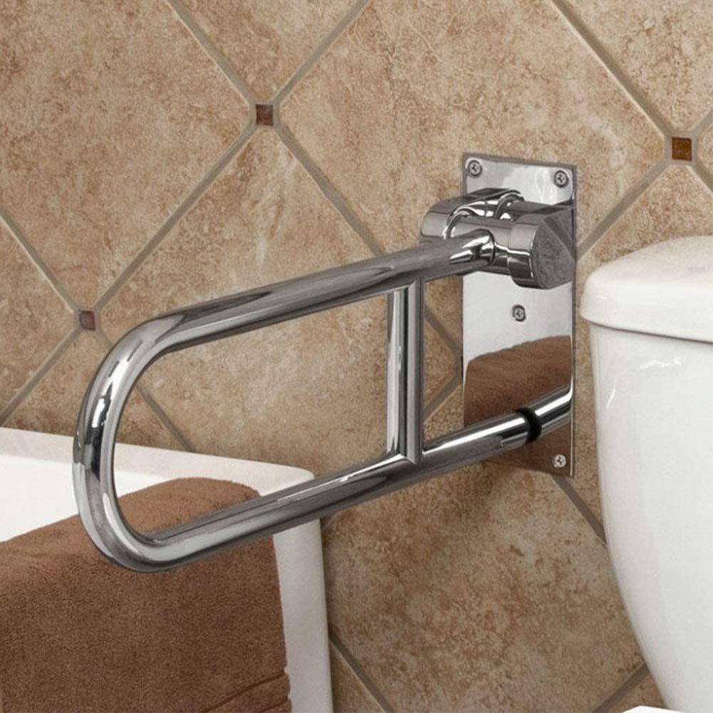 Flip-Up-Toilette Hand-Bathtub Arm Handicap-Helfer,Frosted QZY Medizinische Sicherheit Edelstahl Grab Bar