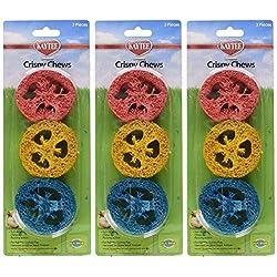 (3 Pack) Super Pet Ka-Bob Small Animal Crispy Chew Treats, Colors Vary, 3 Treats Per Pack