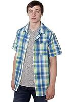 Six8 Clothing Co Mens Seersucker S/S Plaid Shirt