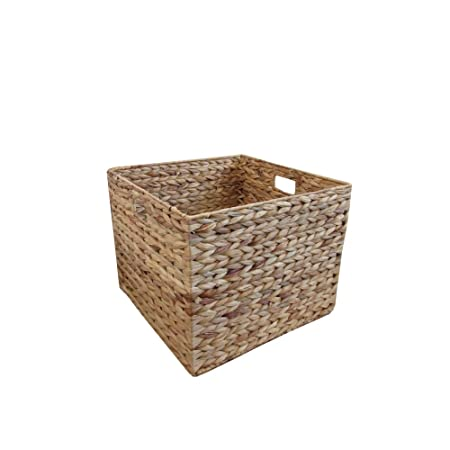 Exceptionnel Natural Water Hyacinth Square Storage Basket Medium