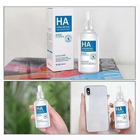 Sérum de ácido hialurónico esencia 100 ml para piel cara Quadruple hidratante molécula facial vegano hidratante