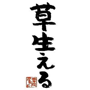 [幸服屋さん] おもしろTシャツ 漢字・和柄「草生える」 ka300-48 S ブラック