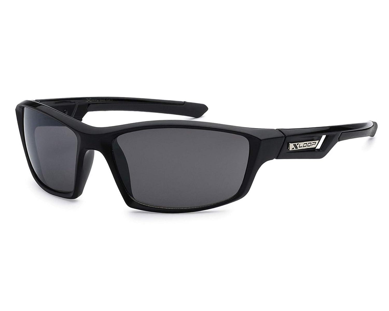 Mens Sports Sunglasses Xloop Wrap Frame Revo Lens