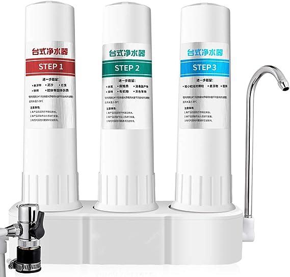 XSGDMN Grifo de purificador de Filtro de Agua Encimera - Sistema ...