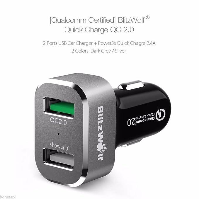 BliTZWOlf Qualcomm Certificado BW-c6 30 W Carga rápida QC ...