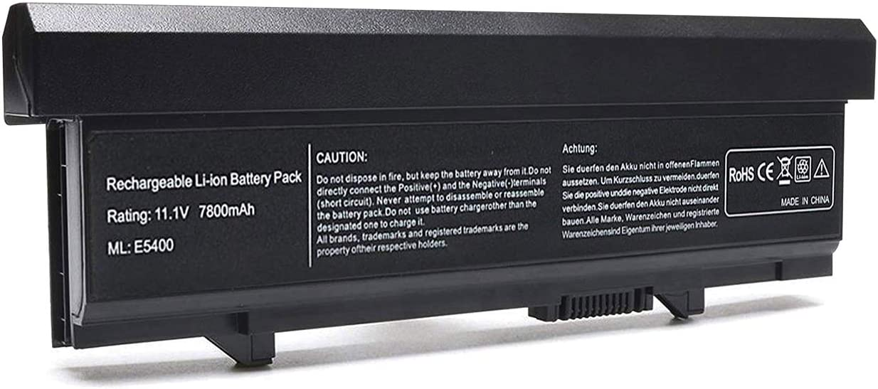 New Laptop Battery Compatible with Dell Latitude E5400 E5410 E5500 Series fits P/N KM668 KM769 RM668 MT332 KM742 KM752 KM760 WU841 T749D [11.1V 7800mAh 9-Cell]