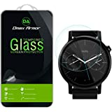 [2-Pack] Motorola Moto 360 42mm (2nd Generation) Glass Screen Protector, Dmax Armor [Tempered Glass] 0.3mm 9H Hardness, Anti-Scratch, Anti-Fingerprint, Bubble Free, Ultra-clear