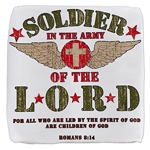 13 Inch 6-Sided Cube Ottoman Soldier in the Army of the Lord by Royal Lion