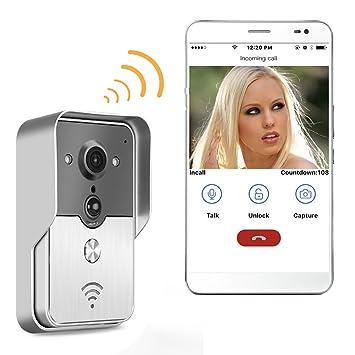 PowPro Pdor PP-KW01 Wifi Waterproof Video Door Phone Wifi Video Doorbell Intercom System with  sc 1 st  Amazon.com & PowPro Pdor PP-KW01 Wifi Waterproof Video Door Phone Wifi Video ...