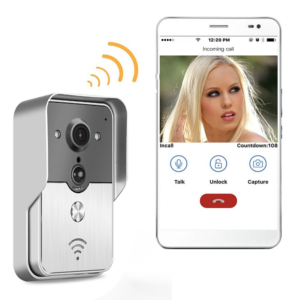 PowPro Pdor PP-KW01 Wifi Waterproof Video Door Phone Wifi Video Doorbell Intercom System with Night Vision