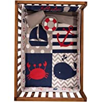 JORGE'S HOME FASHION INC Mariner Baby Boys Crib Bedding Set Nursery 6 PCS 100% Cotton