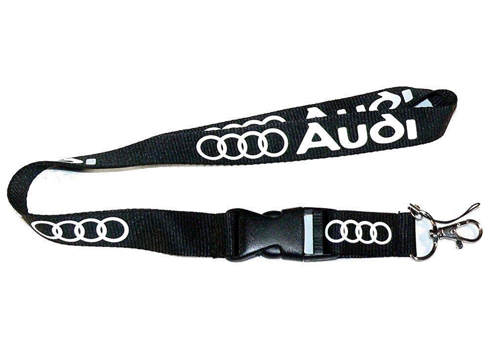 AUDI Key chain Teardrop Key Ring Engraved /& Lanyard 22 inch