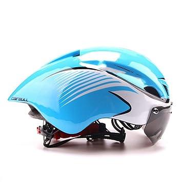 MOLDERY Triatlón MTB Bicicleta de Carretera Bicicleta Bicicleta Integralmente Moldeada Deporte Aerodinámico Ciclismo con Gafas Casco
