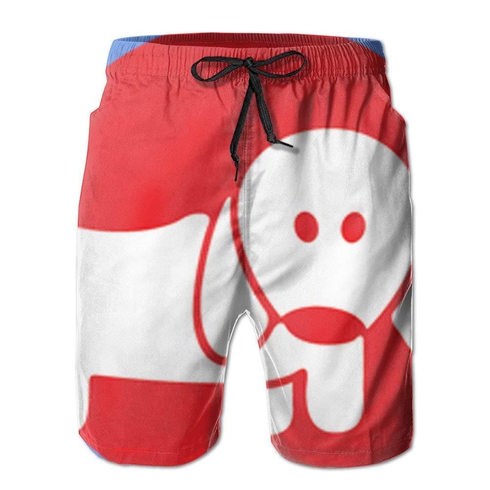 Mens Animal Hospital Dog Board Shorts Swim Trunks