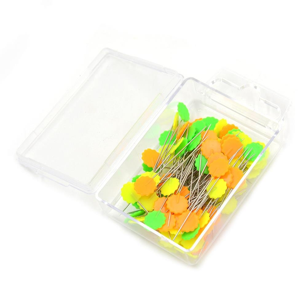CosCosX 200 Pieces Flower Head Pins Boxed, Sewing Pins--5.3 cm/2.08 inch Maple Leaves