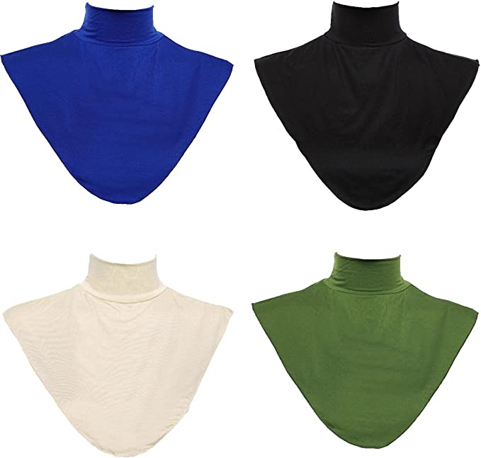 GladThink 4 X Womens Muslim Modal Fake Collar Hijab Extensions Neck Cover