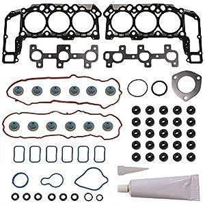 Head Gasket Set Kit Engine Cylinder Fit HS26229PT1 for Dodge Dakota Durango Nitro Ram Jeep Commander Grand Liberty Mitsubishi Raider Ram 1500 Dakota 2005 2006 2007 2008 2009 2010 2011 2012 by DOICOO