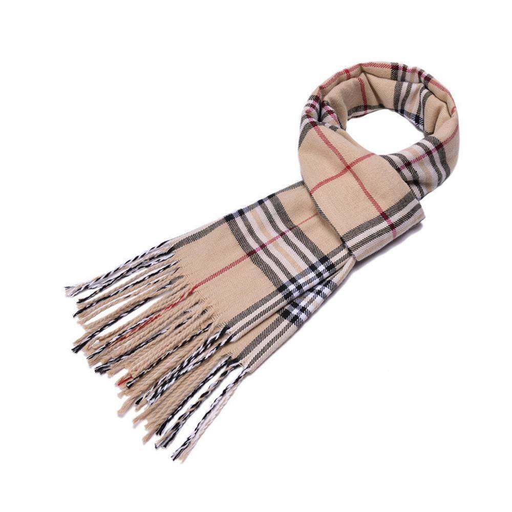 Relddd Sciarpa Uomo Sciarpa con frange cachemire in cashmere invernale Sciarpa con scaldacollo in cotone da uomo 220x60cm