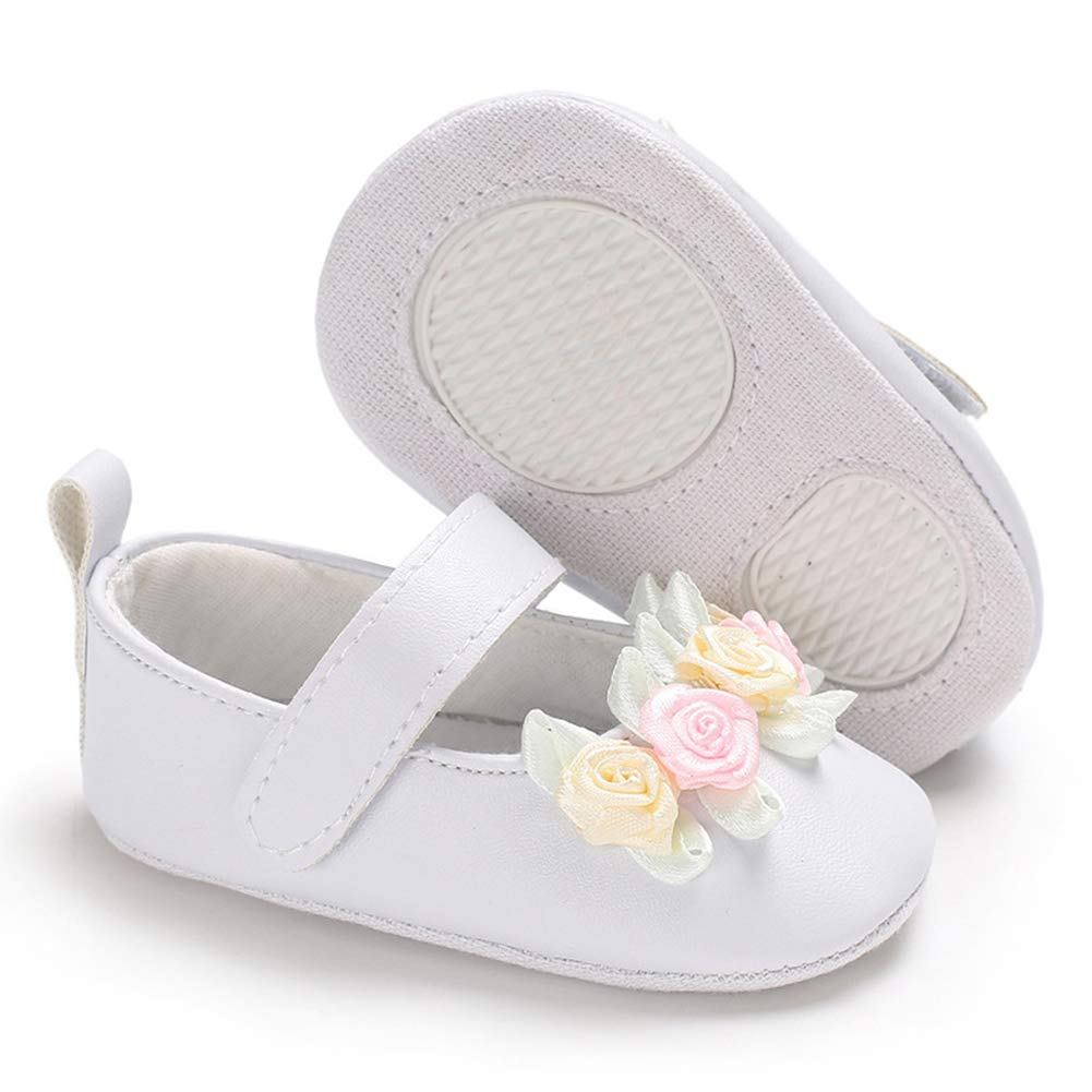 Alamana Fashion Infant Baby Kid Girl Flower Decor Soft Sole Prewalker Toddler Shoes Gift Apricot 12cm