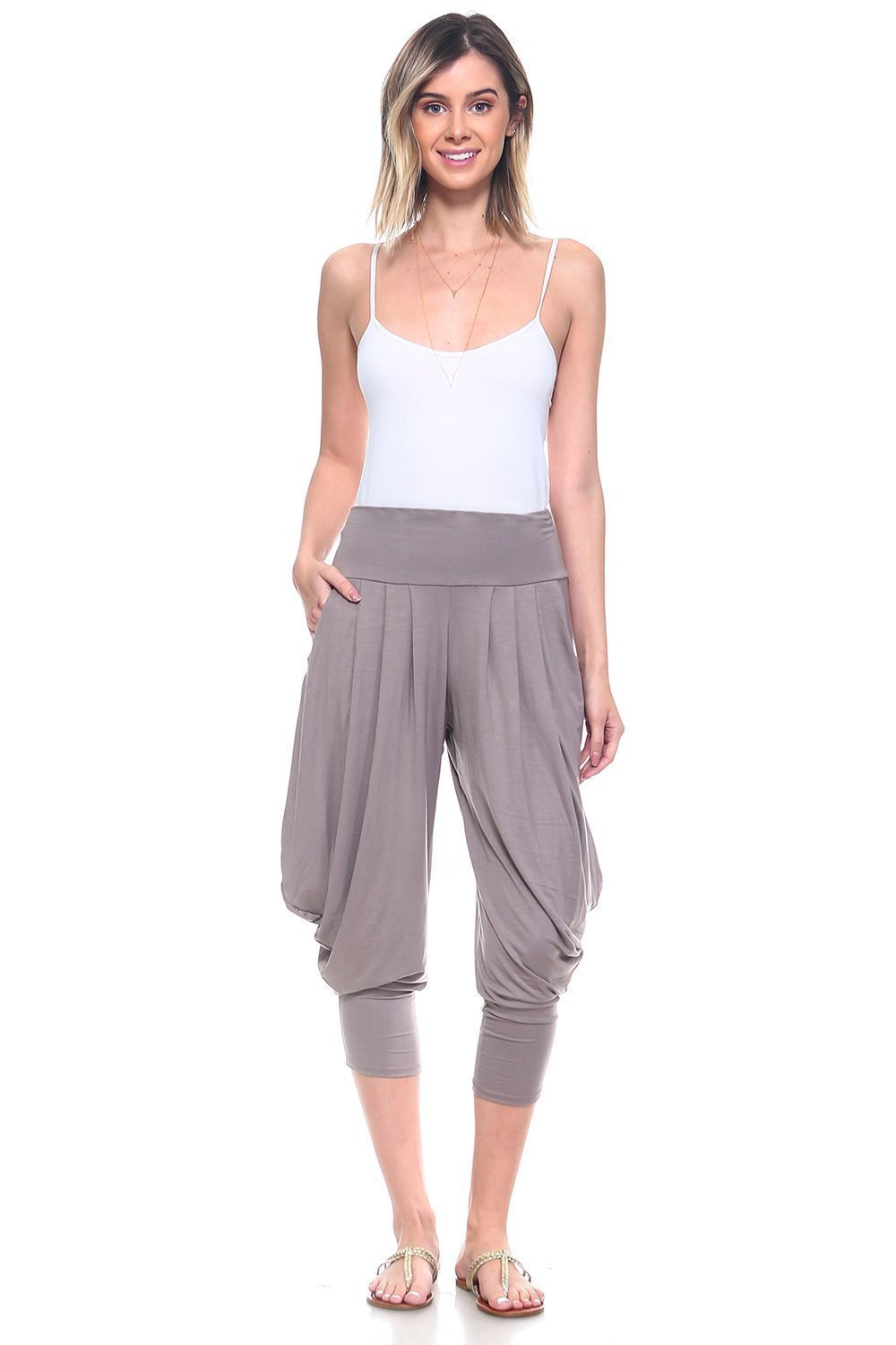 Mocha Simplicitie Women/'s Soft Yoga Sports Dance Harem Pants Made in USA