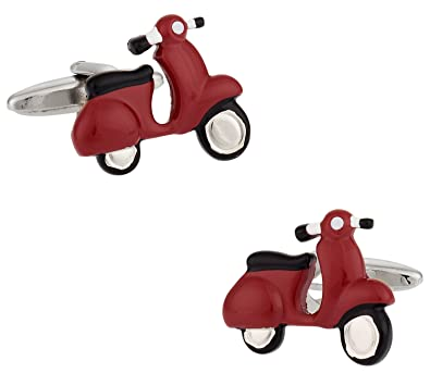 buy cuff daddy red vespa scooter cufflinks online at low prices in
