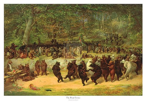 The Bear Dance by William H. Beard 38x27 Animals Fantasy Art Print Poster