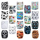 Alva Baby Reuseable Washable Pocket Cloth Diapers Nappies 18 PCS + 36 Inserts 18ZC4