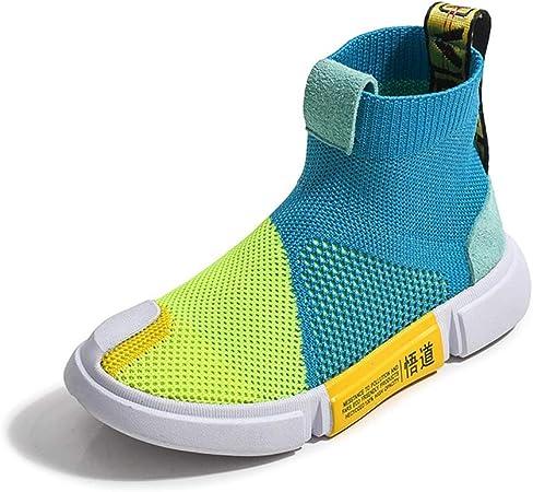 GXTING Zapatillas De Running para Niñas, Zapatillas De Deporte De Calcetines Zapatillas De Gimnasia De Punto Cómodo Zapatos De Zapatillas De Calcetín Zapatillas De Deporte Casuales para Niños,Azul,29: Amazon.es: Hogar