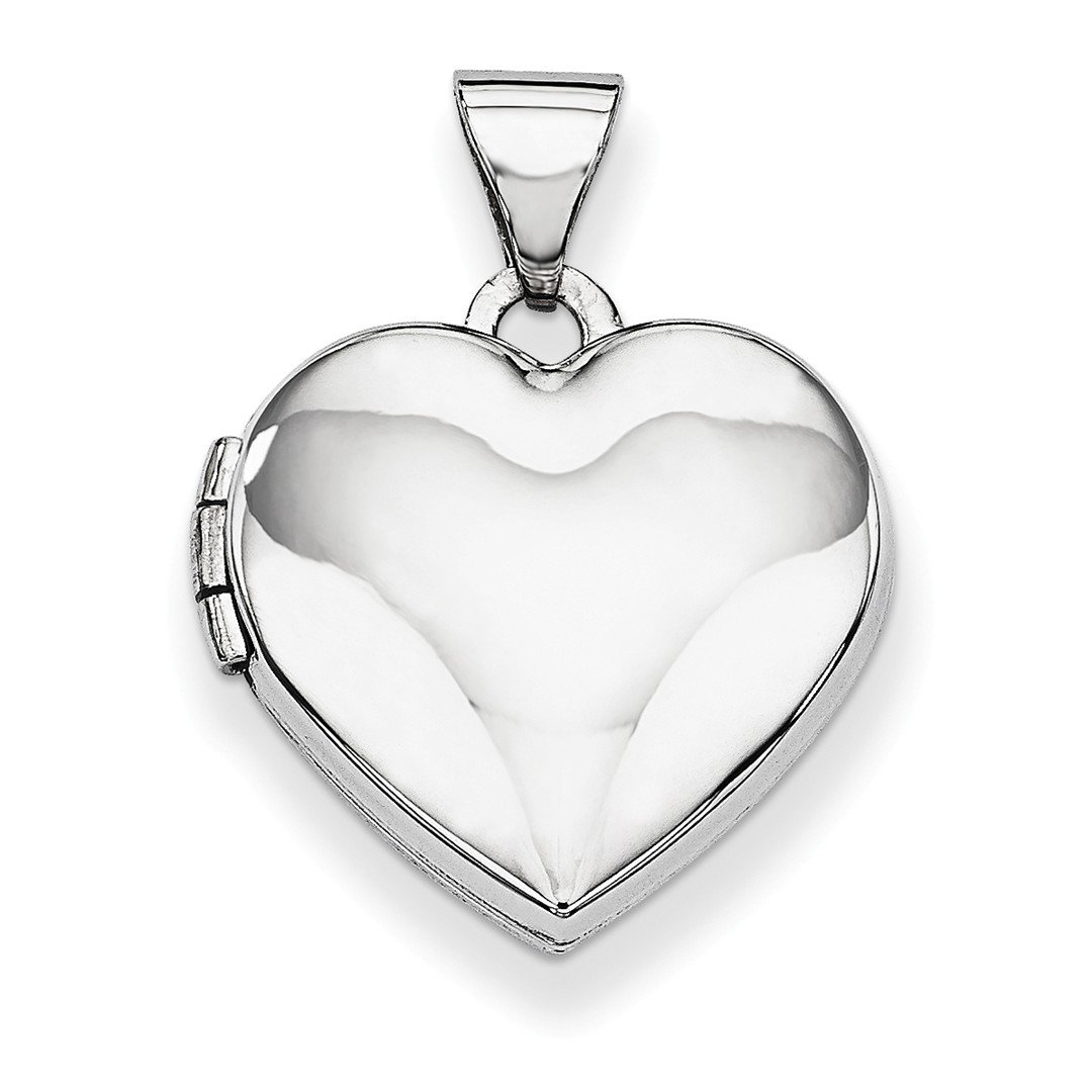 ICE CARATS 14k White Gold Heart Shaped Photo Pendant Charm Locket Chain Necklace That Holds Pictures Fine Jewelry Ideal Mothers Day Gifts For Mom Women Gift Set From Heart