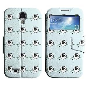 LEOCASE Ovejas Y Flor Funda Carcasa Cuero Tapa Case Para Samsung Galaxy S4 I9500 No.1000326