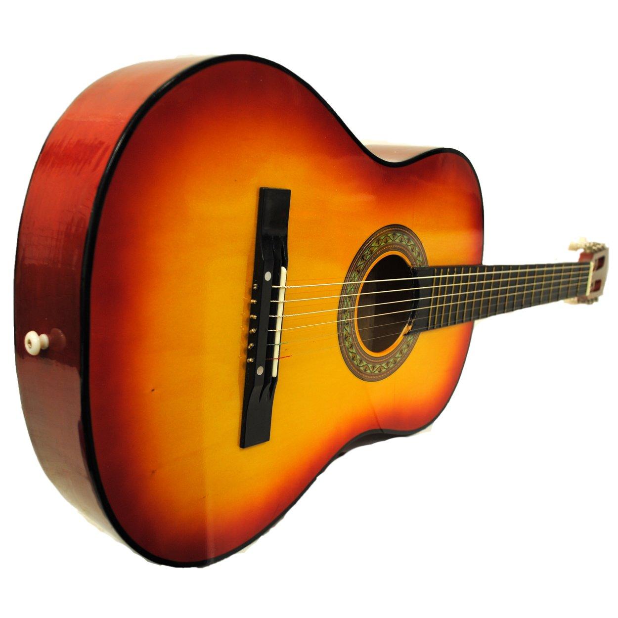 38 Starter Acoustic Guitar with Performer Package KIT Bag:Tuner:Pick (Cherry Sunburst) Shop4Omni
