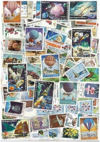 Colección de sellos usados de Laos: 100 sellos diferentes.: Amazon ...